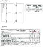 Kogellagerscharnier 89x89 mm Ronde Hoek RVS Zwart Gelakt_