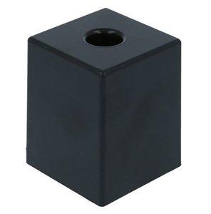 Meubelpoot kunststof vierkant 50x50x60 mm