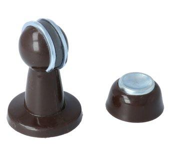 Deurvastzetter magnetisch 80mm bruin