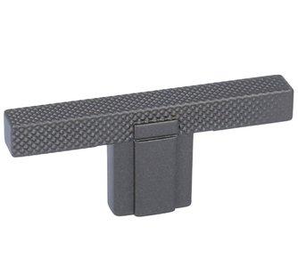 T-Knop antraciet geribbeld 9x12x65 mm
