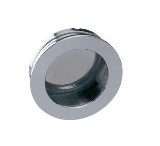 Schuifdeurkom Rond 40 mm chroom