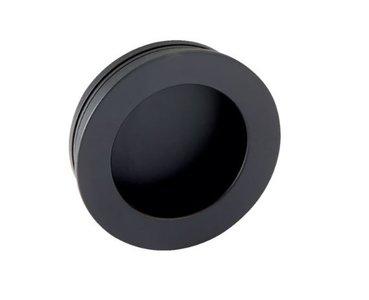 Schuifdeurkom Rond 40 mm mat zwart