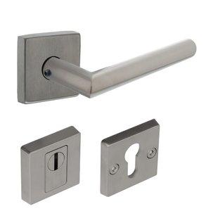 SKG*** Veiligheid Achterdeur Set Vierkant RVS