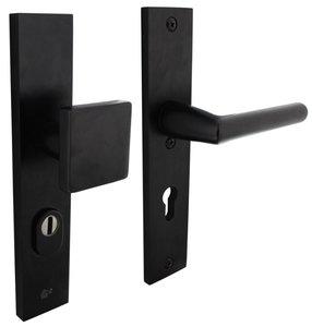 Veiligheidsbeslag rechthoekig met kerntrek beveiliging greep/kruk SKG*** PC72 Aluminium Zwart