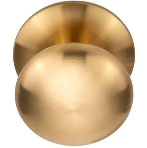 Voordeurknop BASIC LB80V Vast met Rozet PVD mat goud