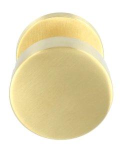 Voordeurknop BASICS LB503V Vast op Rozet PVD mat goud