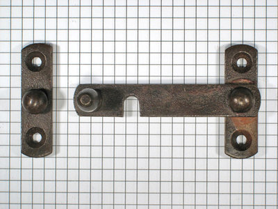 Overslag-sluiting ijzer geroest rechts