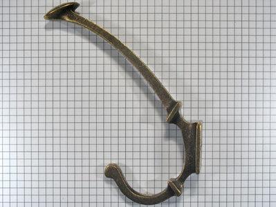 Hoed en jashaak brons antiek