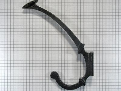 Hoed en jashaak ijzer zwart