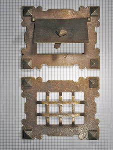 Doorkijkluikje, brons antiek