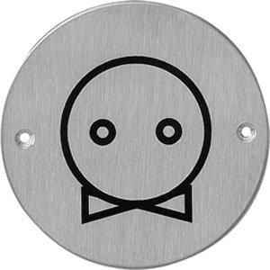 Pictogram rond WC uni: strik/das rvs