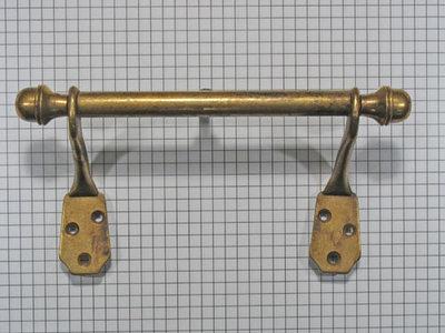 Stang + 2 wandbevestiging brons antiek 146 x 75 mm