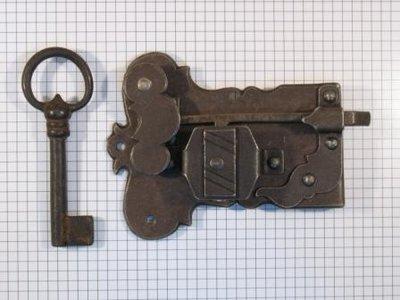 Kastslot ijzer geroest 60 mm rechts