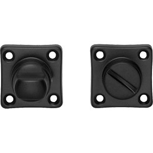 WC-sluiting 8mm vierkant mat zwart