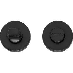 WC-sluiting 8mm rond verdekt kunststof mat zwart