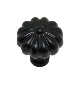 Knop 30 mm ijzer zwart.