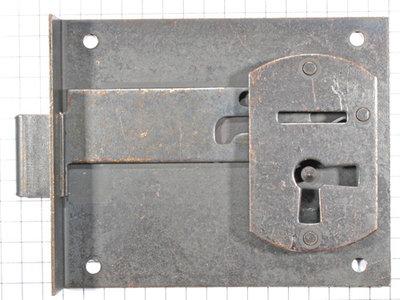 Halfopdekslot verbronsd penmaat 60 mm Rechts