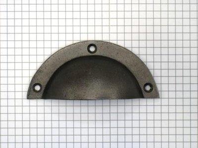Komgreep ijzer oud grijs 91 mm