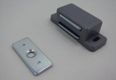 Magneetsnapper 4 kg metalen tegenplaat zilvergrijs