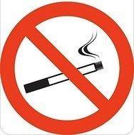 Sticker verboden te roken