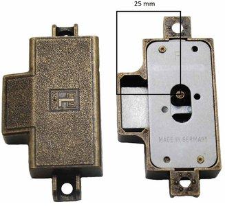 Spanjoletslot 25 mm Rechts Brons