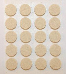 Zelfklevend Vilt Wit Ω 17 mm