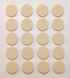 Zelfklevend Vilt Wit Ω 22 mm
