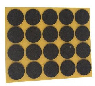 Zelfklevend Vilt Bruin Ω 17 mm