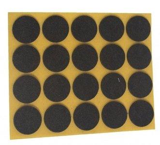 Zelfklevend Vilt Bruin Ω 28 mm