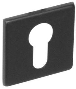 PC-plaatje vierkant plat verdekt RVS-mat zwart