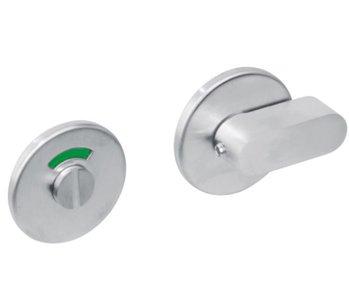 WC-sluiting 8mm rond plat verdekt RVS Geborsteld