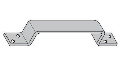 Kistgreep 210 mm Staal Verzinkt