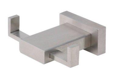 Kapstokhaak RVS vierkant dubbel 95 mm