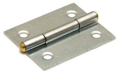 Scharnier blank verzinkt 25x22 mm