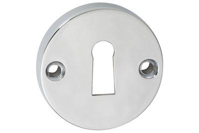 2 sleutelplaatjes rond Chroom