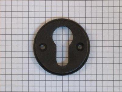 Cylinderslotplaat ijzer zwart rond
