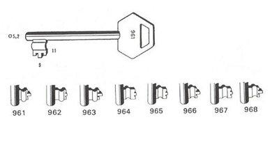 Sleutel 962 Lips BR