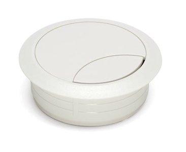 Kabeldoorvoer Rond Wit 80 mm