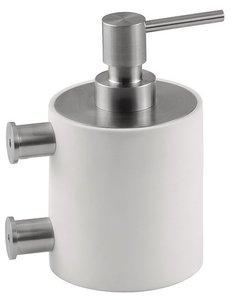 Zeepdispenser PIET BOON PB503 Mat RVS/Wit Corian