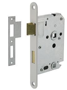Intersteel Badkamer/Toilet slot 63/8mm Met Witte Voorplaat 20X175 mm