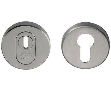 TIMELESS RVEIL-KT SKG3 Veiligheid-rozet rond + kerntrekbeveiliging PVD Mat Nikkel/Mat Nikkel
