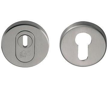 TIMELESS RVEIL-KT SKG3 Veiligheid-rozet rond + kerntrekbeveiliging PVD Glans Nikkel/Glans Nikkel