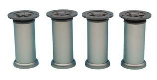 Set van 4 Meubelpoten Aluminium 200 mm