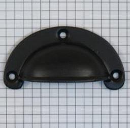 Komgreep massief ijzer zwart 70 x 35 mm
