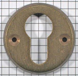 Cylinderslotplaat messing antiek