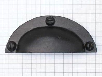 Komgreep massief ijzer zwart 98 x 40 mm