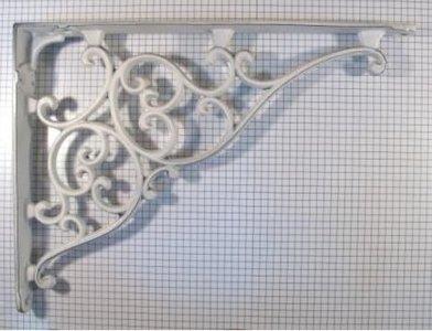 Plankdrager rustiek ijzer wit 205 x 275 mm