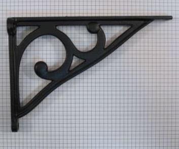 Plankdrager 195 x 137 mm ijzer zwart