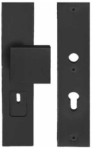 Veiligheidsbeslag met kerntrek beveiliging SQUARE LSQ60-50KT knop/kruk SKG*** Zwart PC55