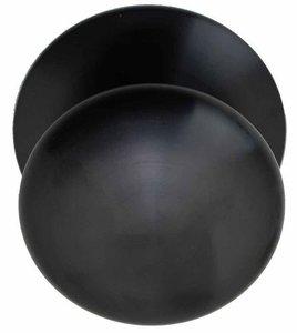 Voordeurknop BASIC LB80V Vast met Rozet PVD Gunmetal